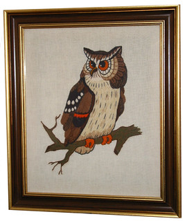 Gufo, Owl -- this Gobelin is coming from Canada and my wife made the needlework | by pizzodisevo 1937,