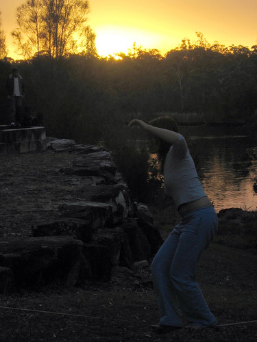 Slacklining at Georges River | by Tooley