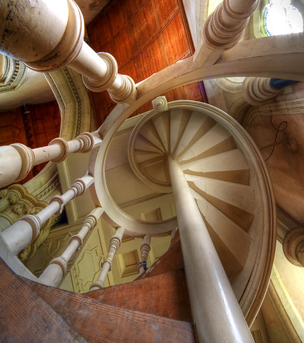 Organ staircase Saint Mary's Studley Royal, Yorkshire UK | by fotofacade