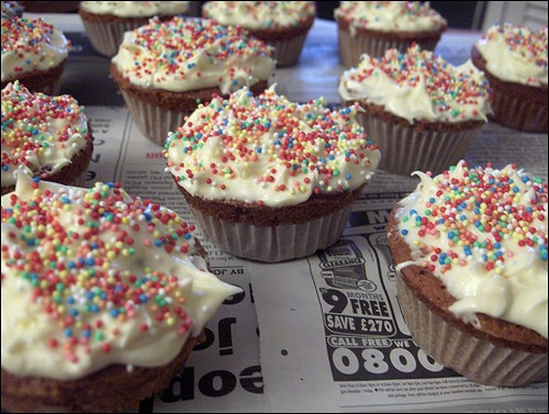 Espresso Cupcakes with Milk Chocolate Ganache | Flickr - Photo Sharing ...