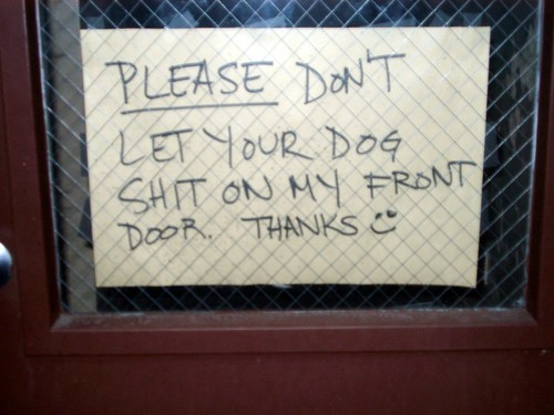 Funny sign outside apartment | by Aaron_M