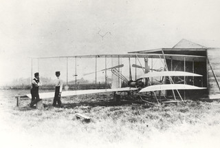 Released to Public: Wilber and Orville Wright with Flyer II at Huffman Prairie, 1904 (NASA GPN-2002-000126) | by pingnews.com