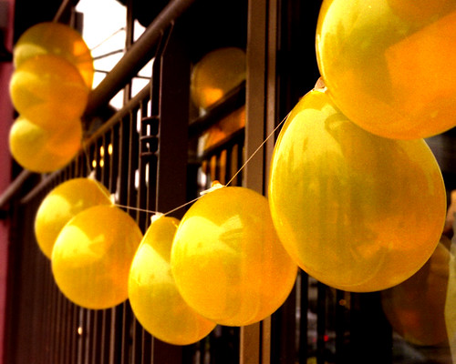 Yellow balloons | by Rachael Ashe