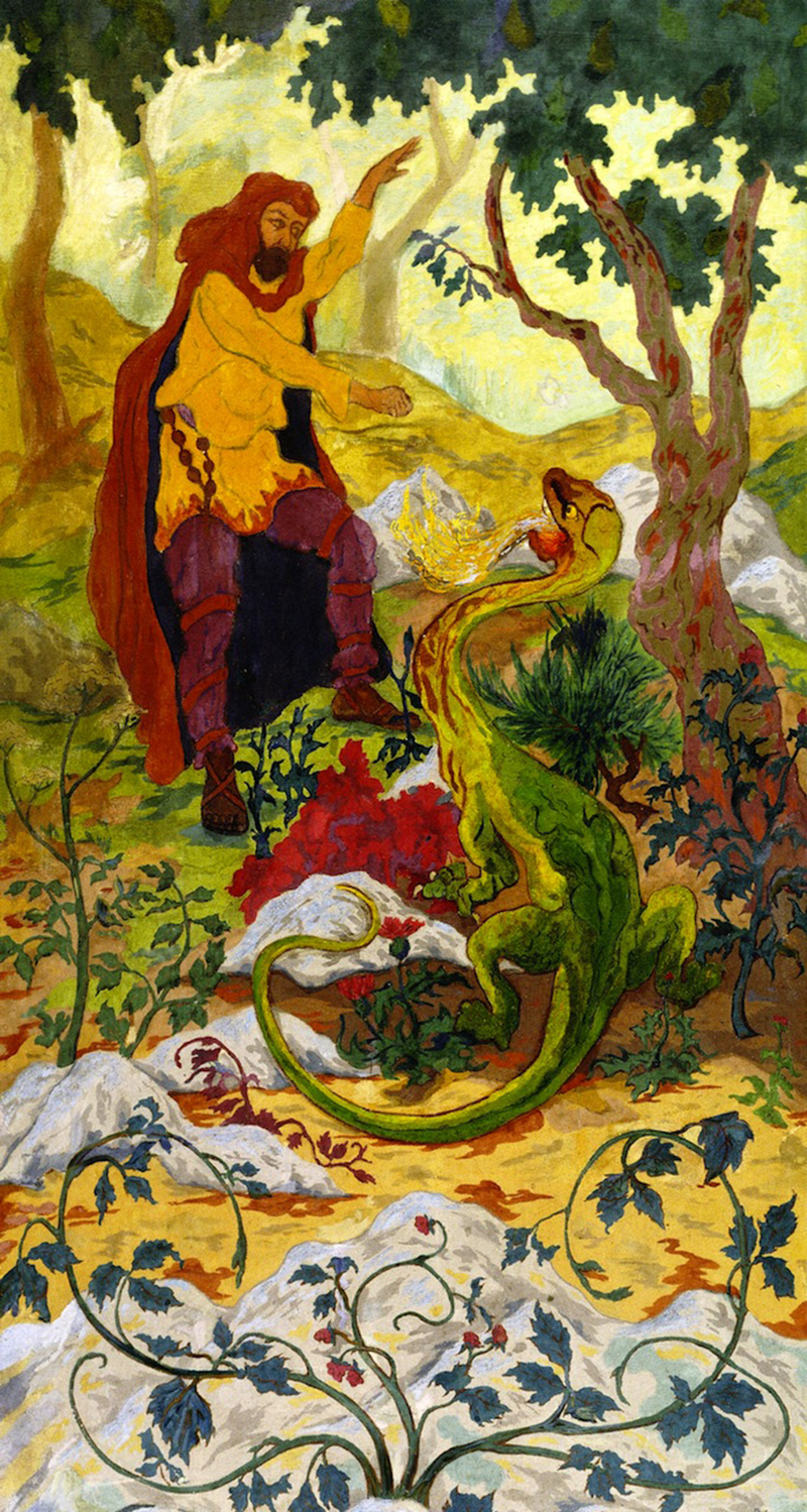 Paul Ranson - The Legend of the Hermit or The Temptation of Saint Anthony, 1899