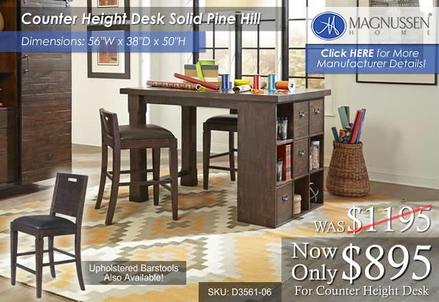 Counter Height Desk Pine Hill H3561-(18)
