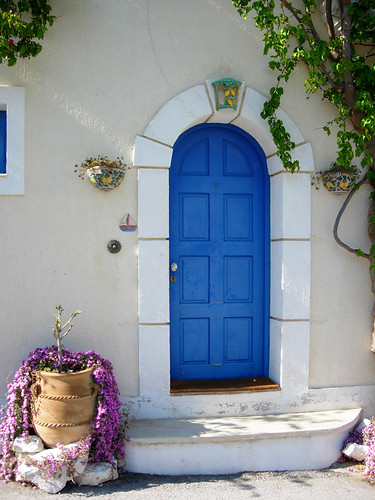 Blue Door in Kefalonia, Greece | by mnadi