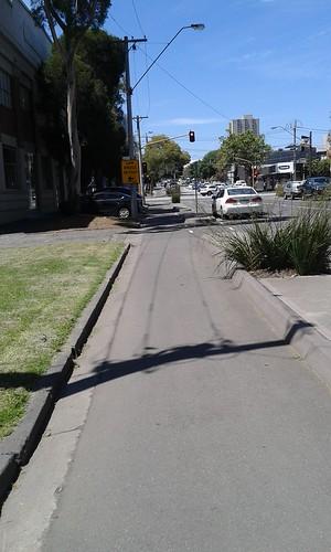 Copenhagen bike lanes - Cecil Street, South Melbourne