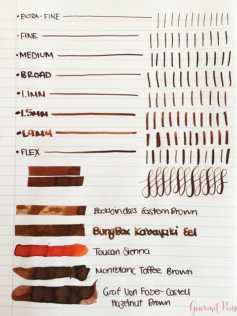Ink Shot Review Bookbinders Eastern Brown @AndersonPens 2