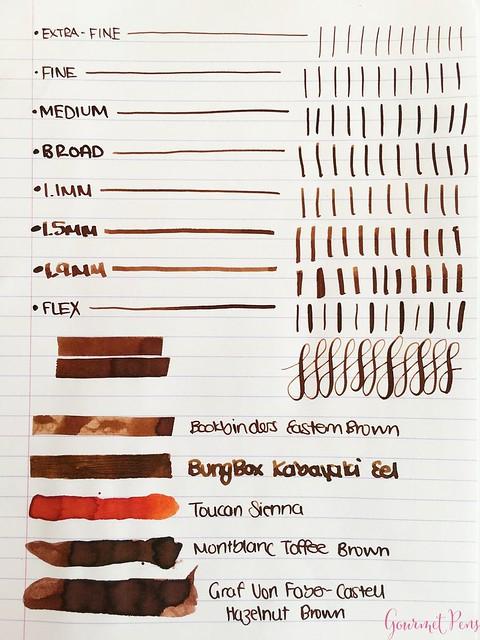 Ink Shot Review Bookbinders Eastern Brown @AndersonPens 2