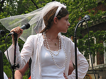 Leader Singer of Barely Standing, Chicago Pride Parade, 2005 | by panopticon