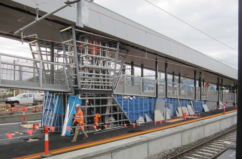 Bayswater level crossing removal: new station ramp