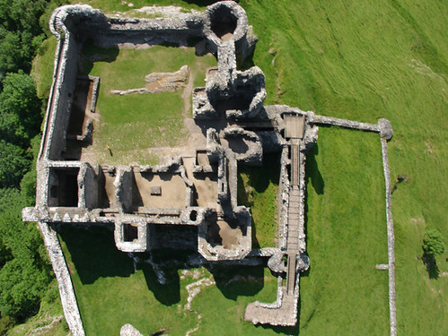 Aerial Photography Of Carreg Cennen Castle Llandeilo Wal
