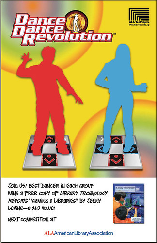 TechSource DDR poster for the booth at Midwinter! | by ALA staff