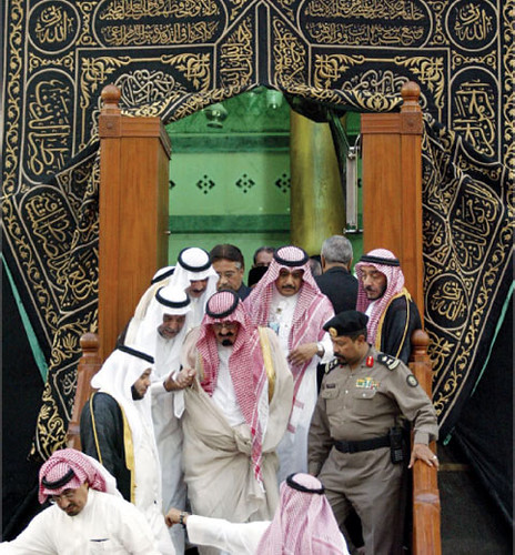 King Abduallah of Saudi Arabia coming out of Holy Kaba | by SYED MUNEER