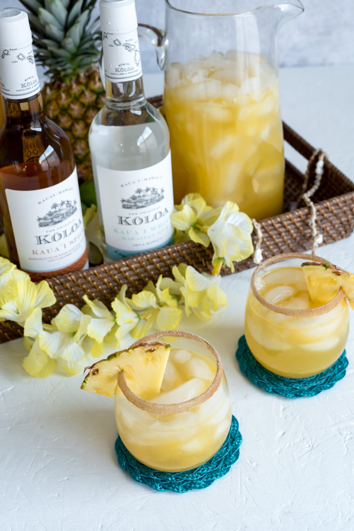 Spiced Pineapple Rum Punch Makes one large pitcher of punch
