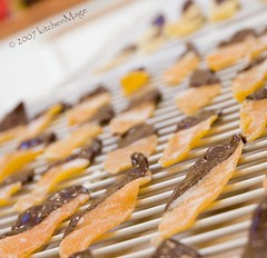 Chocolate dipped candied citrus peel | by kitchenmage