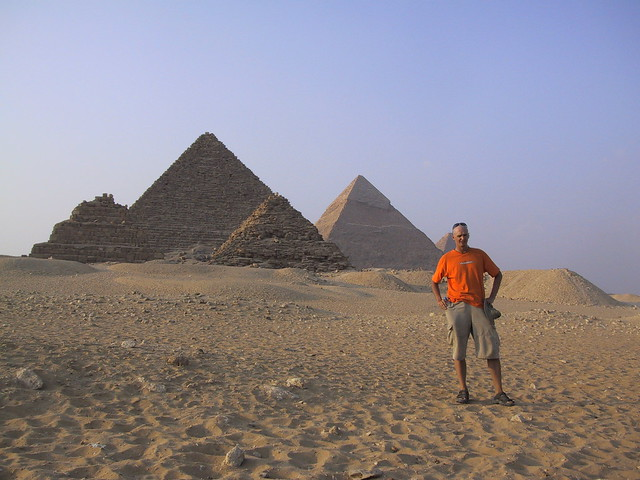 Hubbers near Pyramids, Cairo, Egypt