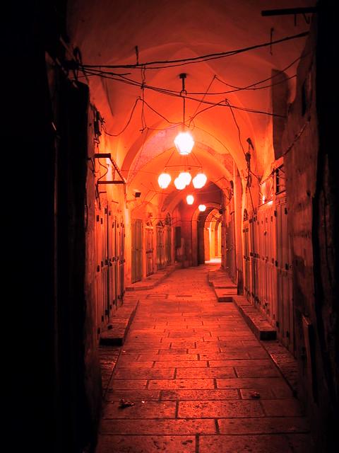 Jeruselam Old City at night, Israel