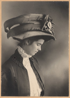 young victorian lady with a big fancy hat | by David Flam