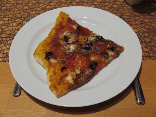 Pizza mit Anchovis (Viertel)