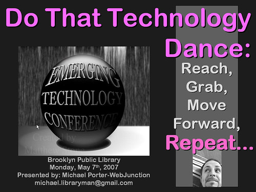 BPL ETC Conference Keynote Intro Slide | by libraryman