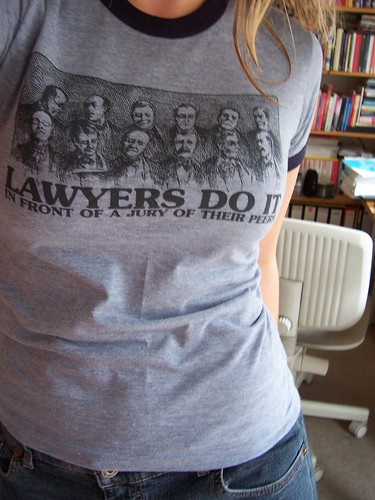 'lawyers do it in front of a jury of their peers.' | by misscaro