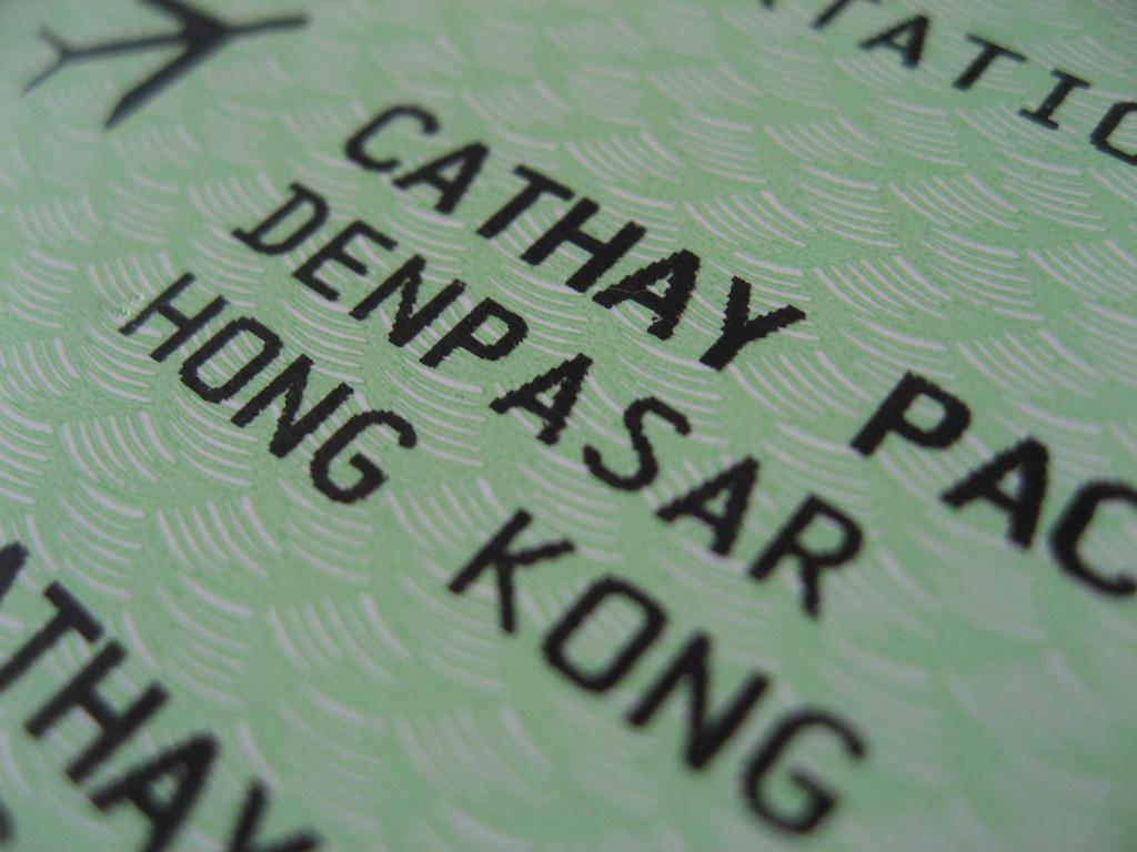 Boarding Pass: Denpasar to HK