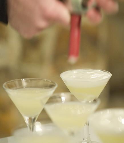 Gin Fizz | Gin, frozen sweet&sour with warm creamy foam | Charles ...