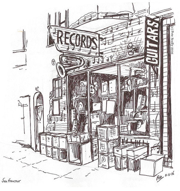 SF Records Shop North Beach