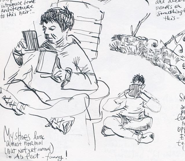 Sketchbook #101: Reading Time