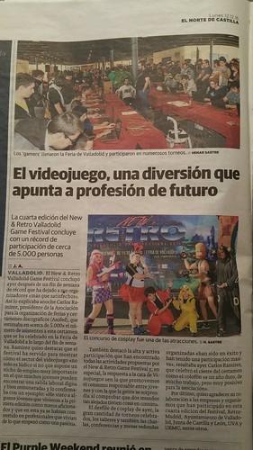 NEW & RETRO Valladolid GAME FESTIVAL 2016 Prensa