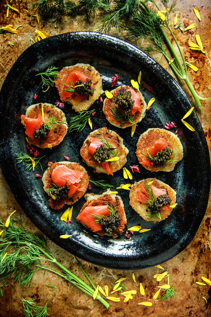 Crispy Potato Chive Pancakes with Smoked Salmon- Gluten, Dairy and Egg Free