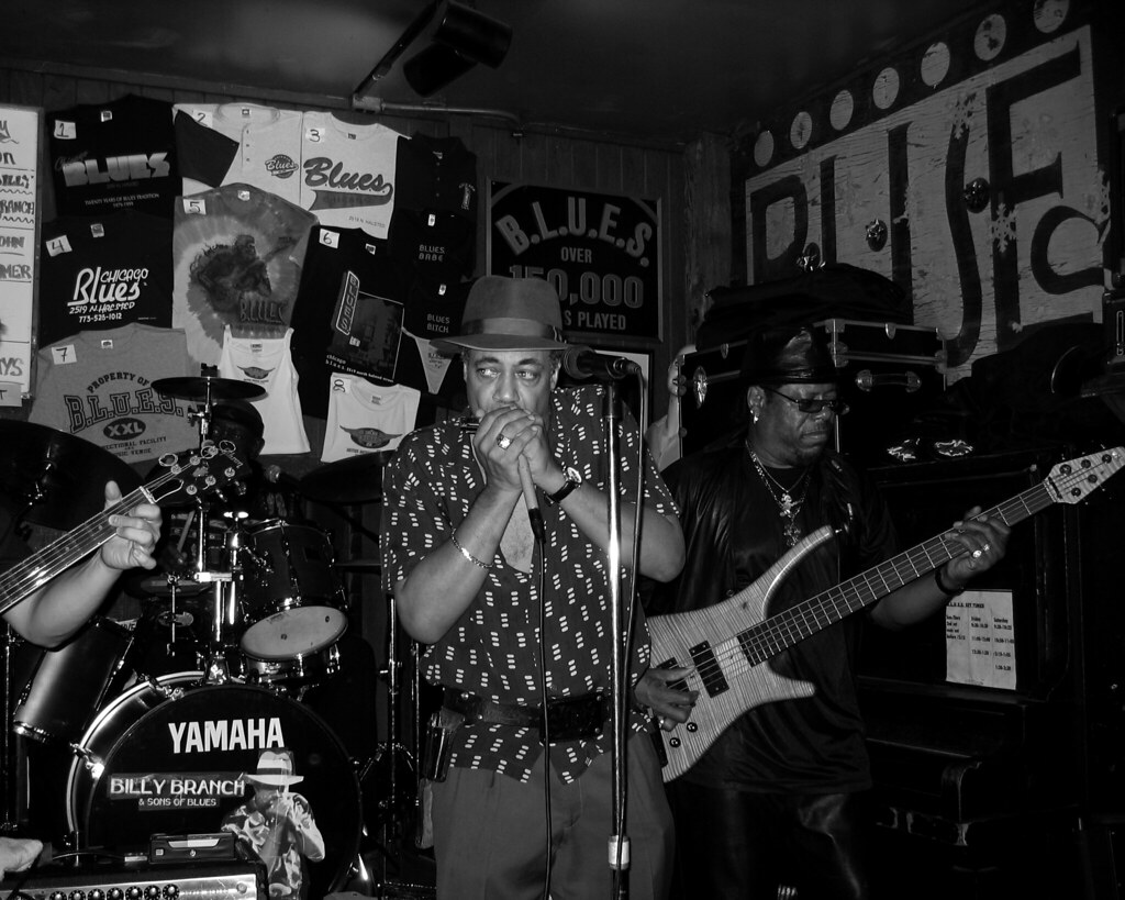 Ambiance de club de Blues au Maloe Melo à Amsterdam - Photo de Michael Clesle