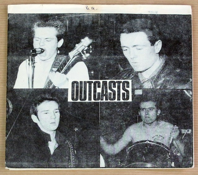 "THE OUTCASTS JUSTA NOTHER TEENAGE REBEL LOVE IS FOR SOPS PUNK MINT GOT 3 FOC 7"" PS SINGLE VINYL"