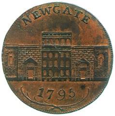 Wyon halfpenny token reverse