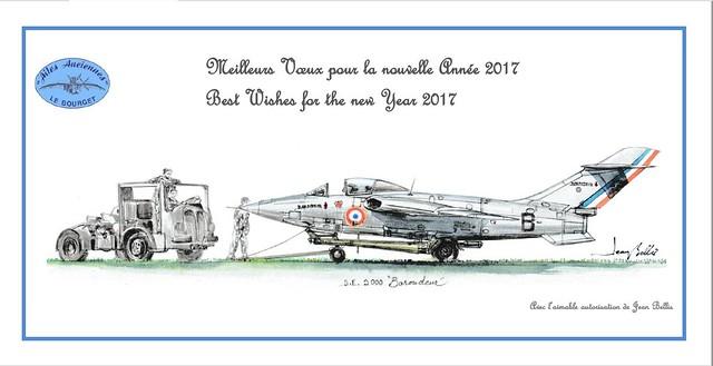Carte de voeux 2017 ailes anciennes Bourget