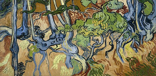 Vincent_van_Gogh_-_Tree_Roots_and_Trunks_(F816)
