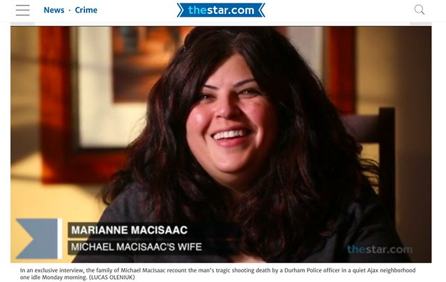 Marianne MacIsaac speaks in a video interview with the Toronto Star.