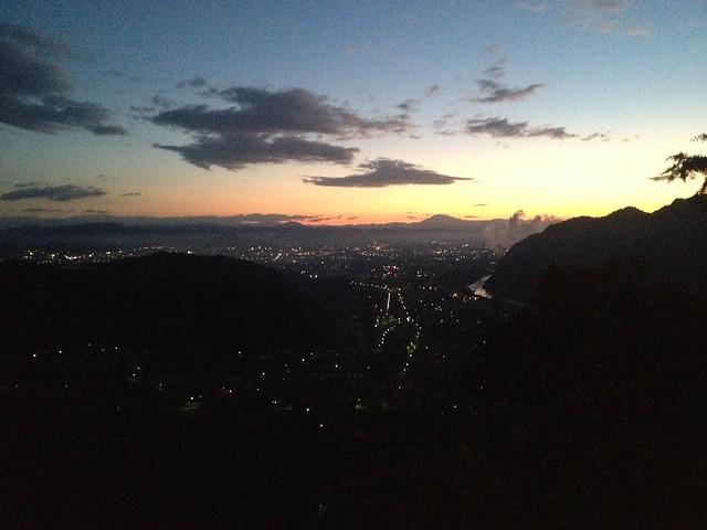 城山 猿啄城展望台 登山道からの眺望