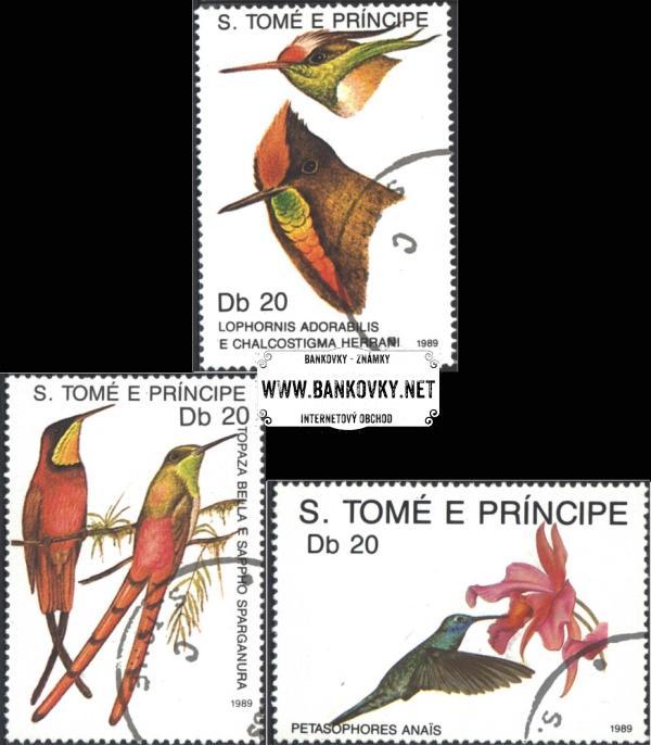 Známky Svätý Tomáš 1989 Kolibríci, razítkovaná séria