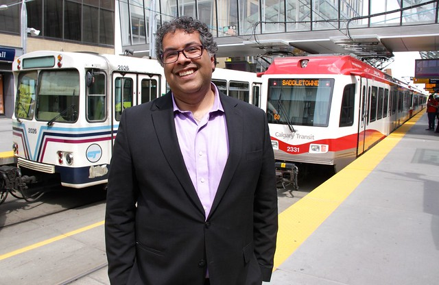 Calgary's LRT is packed during rush hour