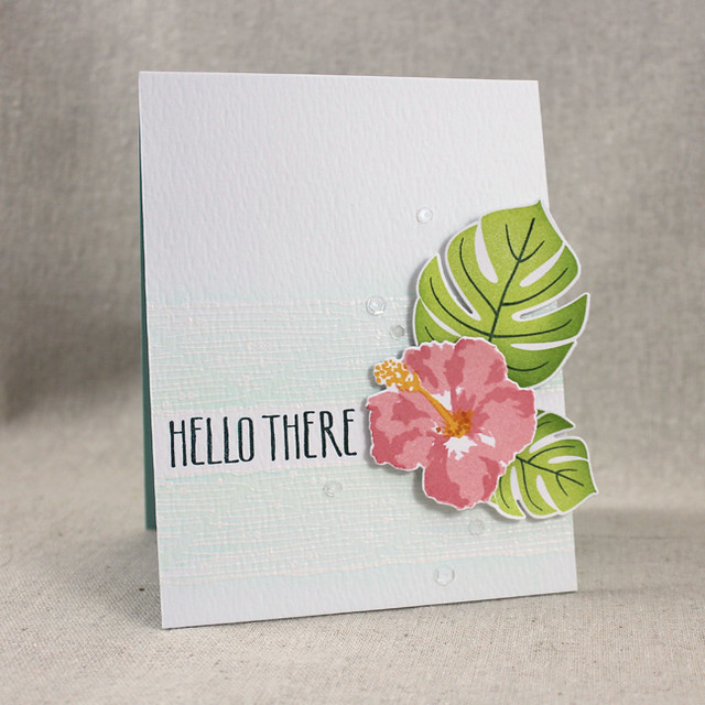 Hello There Hibiscus Card