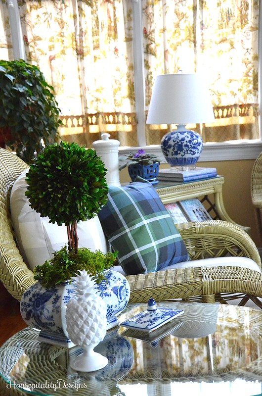Blue and White-Sunroom-Housepitalty Designs