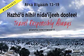 Hazhó'ó nihił nída'íjeeh dooleeł = Travel Responsibly Always #DinéBizaad #rtweek17  @NavajoToursUSA @NavajoWeb @techKialo