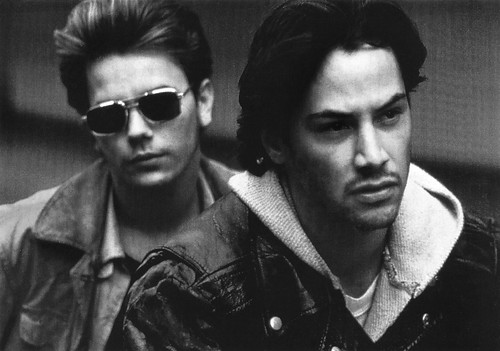 Keanu Reeves and River Phoenix in My Own Private Idahoe (1991)