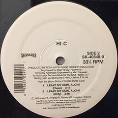 HI-C:LEAVE MY CURL ALONE(LABEL SIDE-B)
