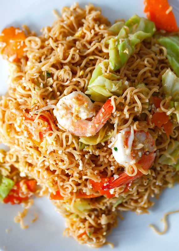 Kid Thung Stir Fried Mama Noodles