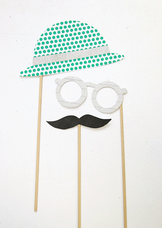 Printable Hat Glasses Moustache Props