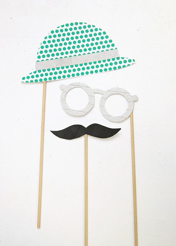 Printable Hat Glasses Moustache Props