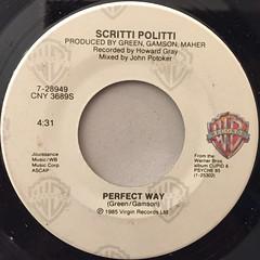 SCRITTI POLITTI:PERFECT WAY(LABEL SIDE-A)